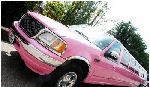 Chauffeur stretch 6 wheeler pink Navigator limo hire in London, Berkshire, Surrey, Buckinghamshire, Hertfordshire, Essex, Kent, Hampshire, Northamptonshire